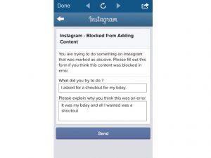 Instagram shoutout