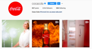 Coca-Cola visual theme Instagram