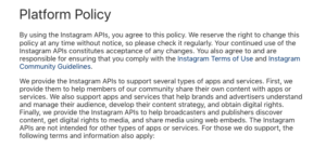 Instagram Terms & Conditions