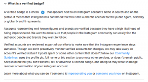 What is an Instagram verified badge