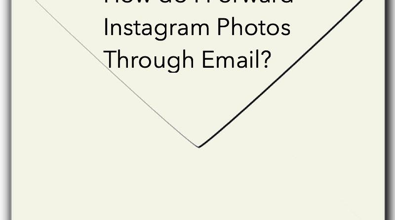 How do I Forward Instagram Photos Through Email?