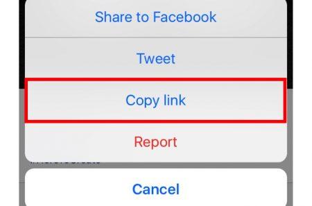 Copy Instagram URL