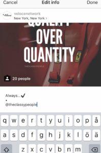 Instagram edit caption