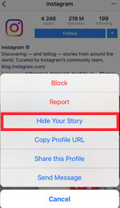 How to hide Instagram Stories