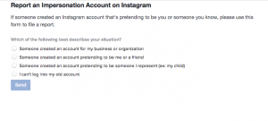 How to report a fake Instagram account