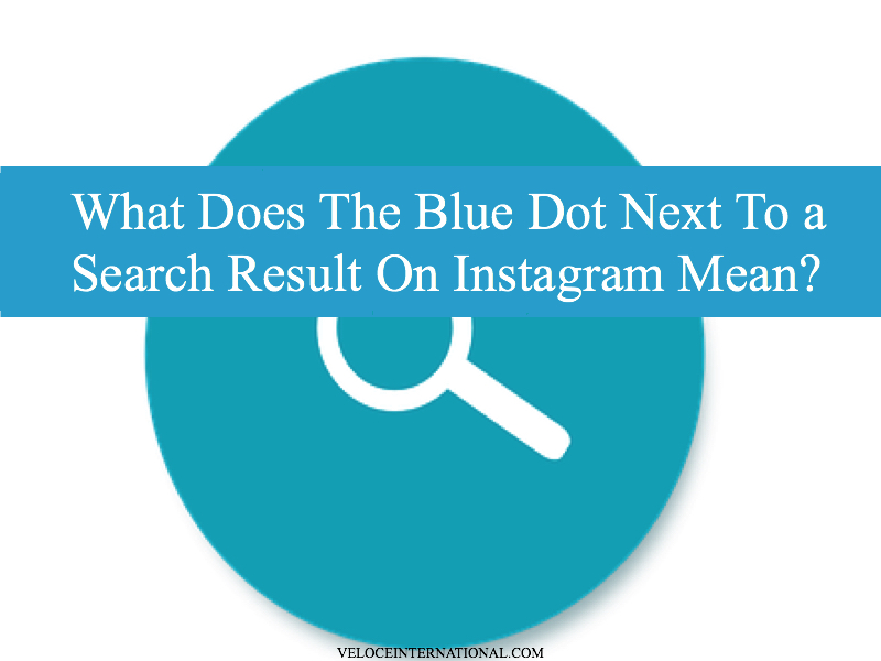 What Does The Blue Dot Next To a Search Result On Instagram Mean?