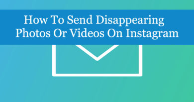 How To Send Disappearing Photos Or Videos On Instagram
