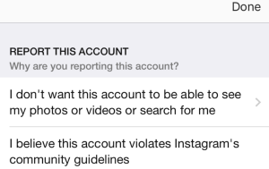 How to report fake Instagram account