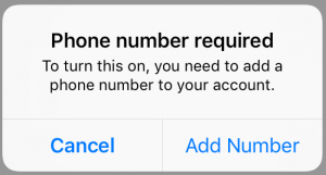 two-factor authentication on Instagram