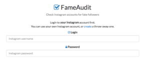 FameAudit Check fake followers