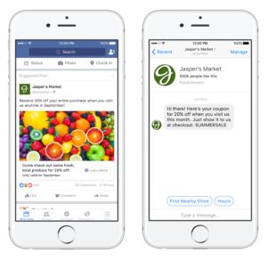 Facebook messenger destination ads