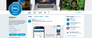 Dell Customer Care Twitter Account