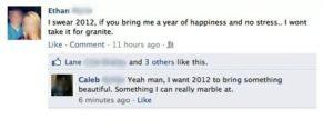 Facebook misspelling