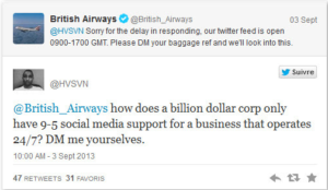 Customer service social media fail