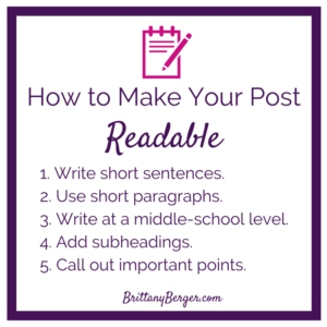 How to make your post readable