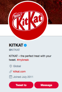 Kitkat social media marketing