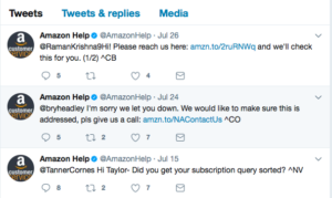 Twitter customer service examples