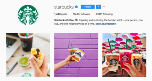 Starbucks social media strategy visual cntent