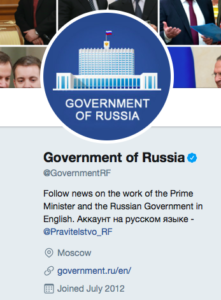 Government of Russia Twitter