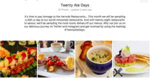 Harrods social media marketing