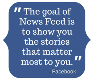 The goal of the new feed is to show you the stories that matter most to you