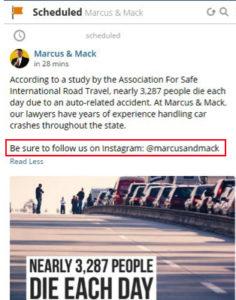 Cross promotion follow us on Instagram