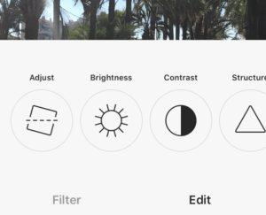 Instagram photo editor filters