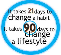 21 Days to change a habit 90 days to change a lifestyle