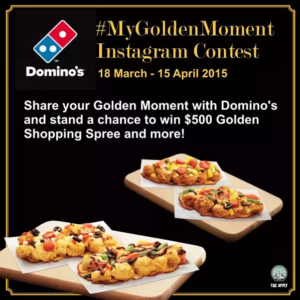 Instagram hashtag contest giveaway Dominos
