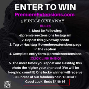 Enter to win social media giveaway