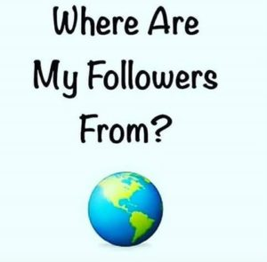 Where are my followers from