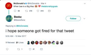 Mcdonalds slang social media