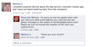 Customer service social media