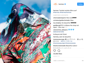 Hermes Instagram marketing strategy