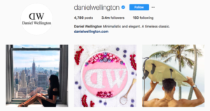 Daniel wellington social media marketing