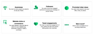 Twitter ad goals