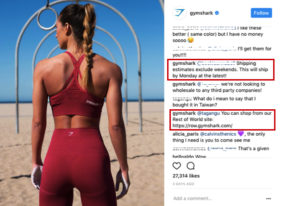 Gym shark Social media marketing