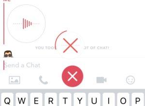 Snapchat voice recording