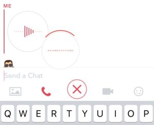 Snapchat voice message
