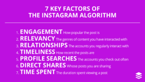 7 key ranking factors instagram algorithm