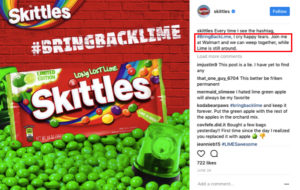 Skittles social media marketing strategy