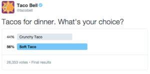 Brands using Twitter polls