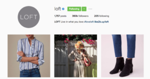 Loft Instagram marketing