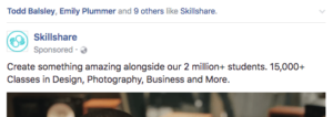 Sponsored Facebook post social proof