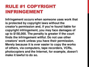 Copyright infringement social media
