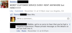 Angry customer social media