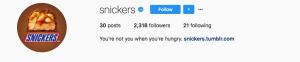 Snickers social media marketing