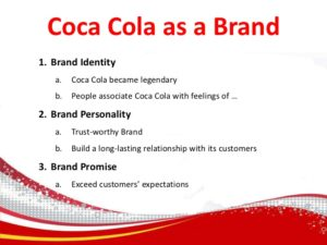 Coca cola brand message