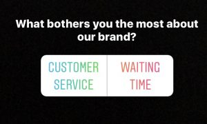 Customer service instagram social media Instagram stories polls