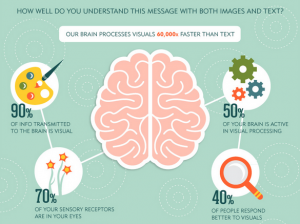 Statistics visual content human brain statistics